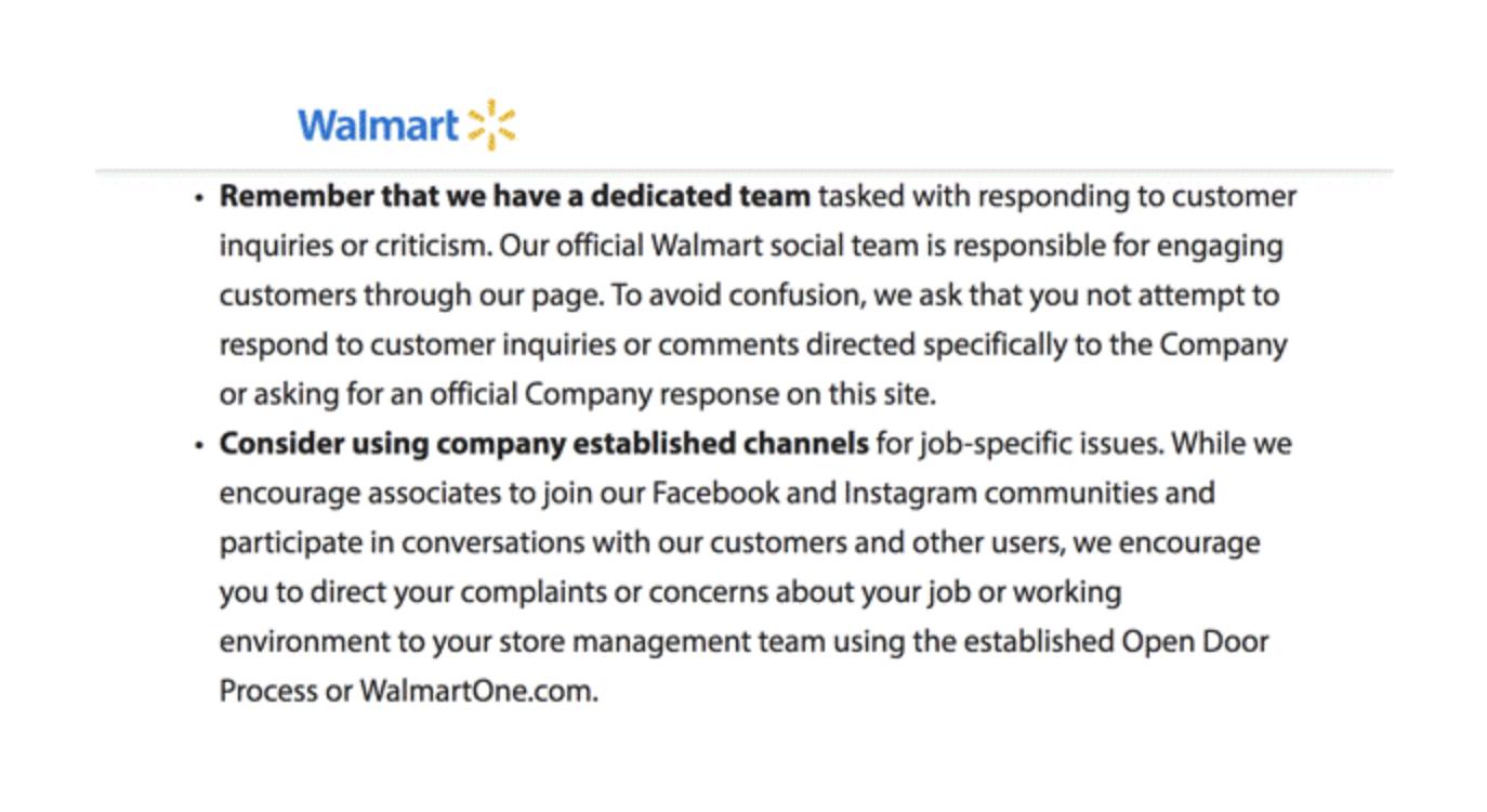 Walmart Social Policy